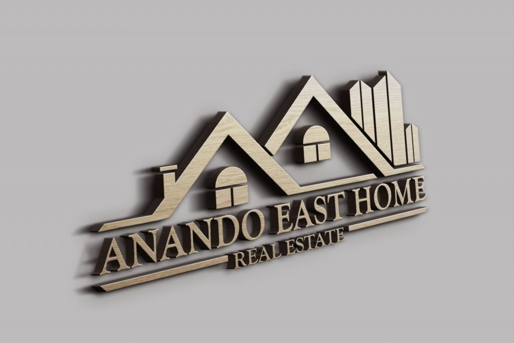 Real Estate Building Logo Template 3d wall effect