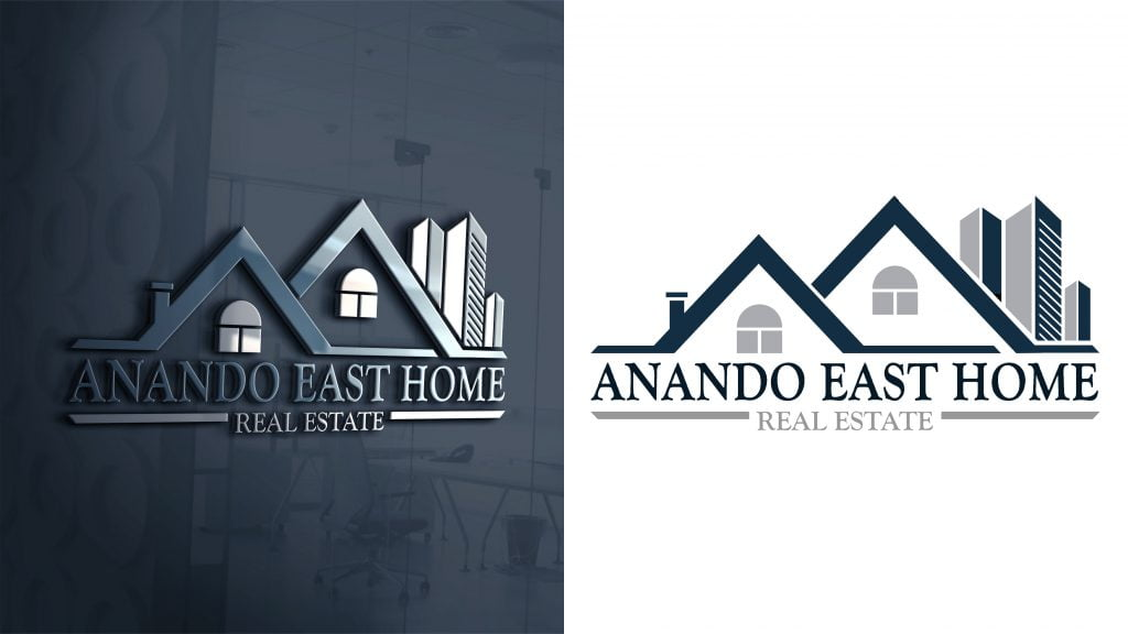 Real Estate Building Logo Template mockup