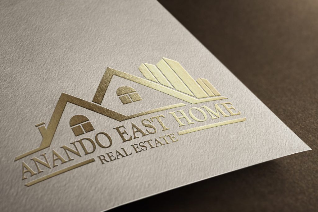 Real Estate Building Logo Template paper mockup