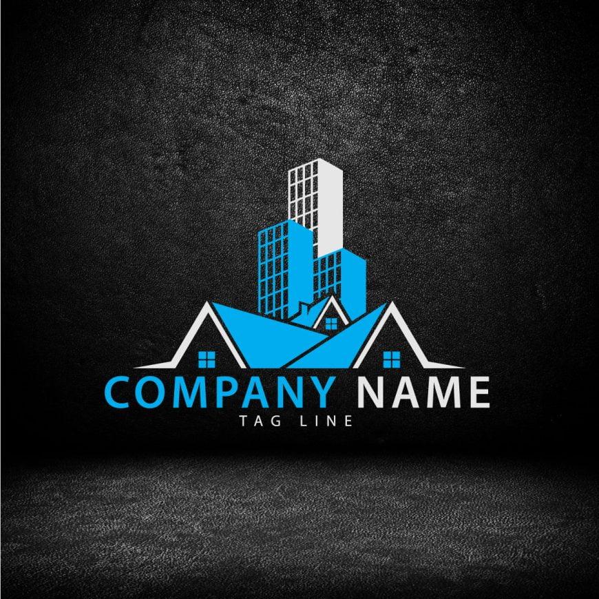 professional real estate company logo