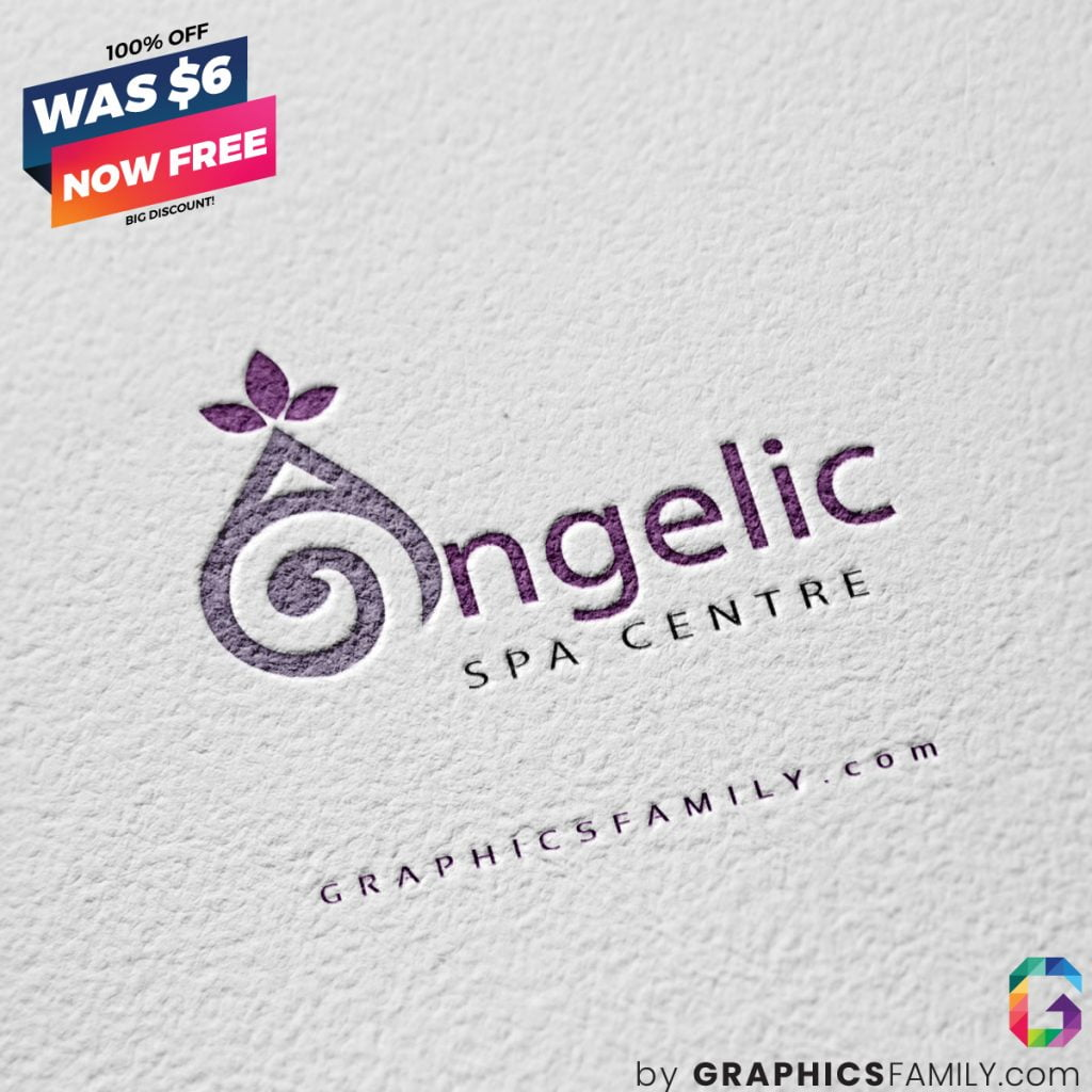 angelic-spa-centre-logo-design-free