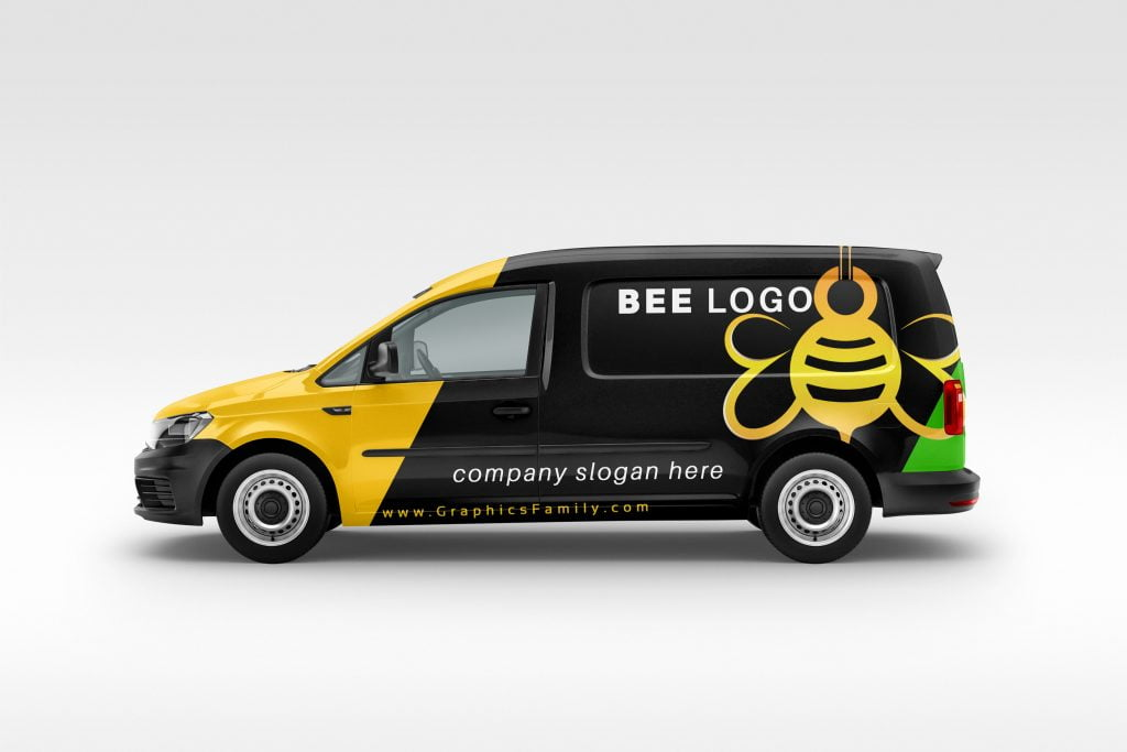 bee-logo-free-template-car-mockup