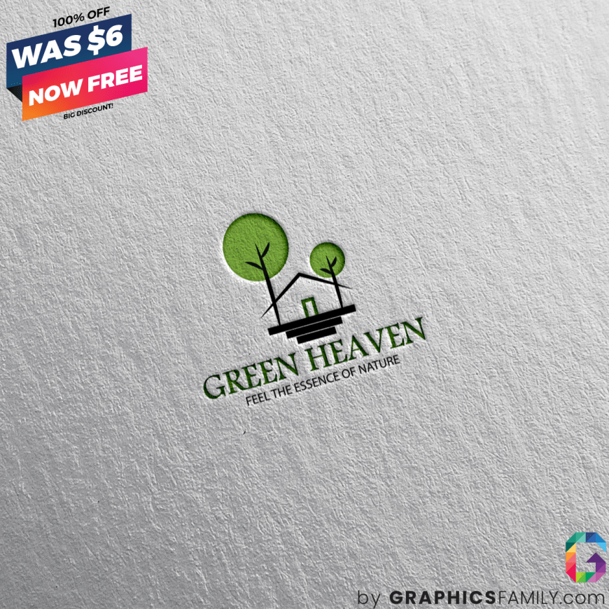 green-heaven-resort-logo-template-design