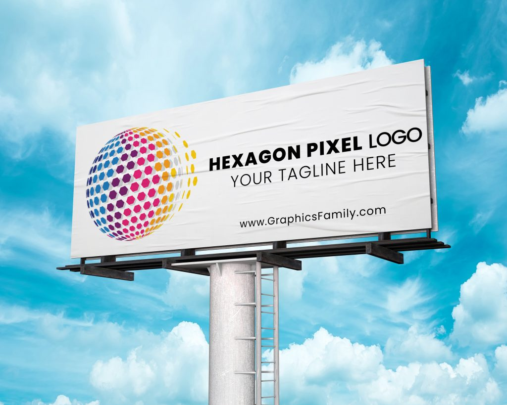 hexagon-pixel-3d-globe-logo-outdoor-mockup