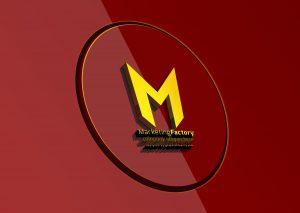letter M logo template mockup