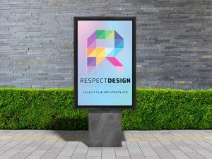 letter R mockup idea