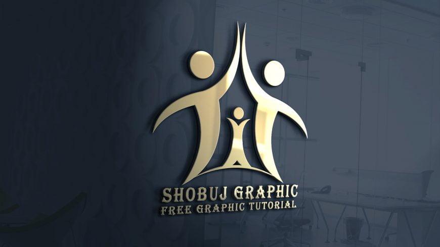 life insurance company logo mockup