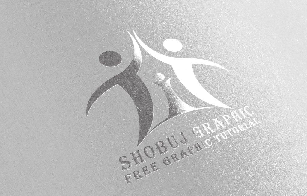 life insurance company logo mockup design