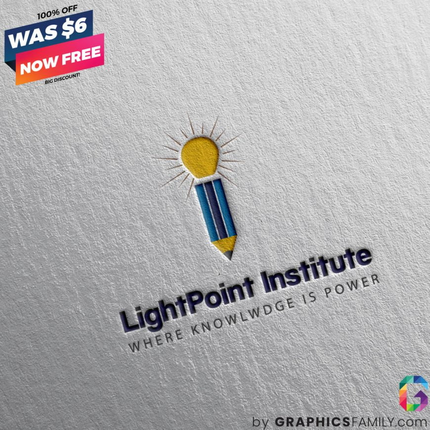 lightpoint-institute-logo-template-mockup