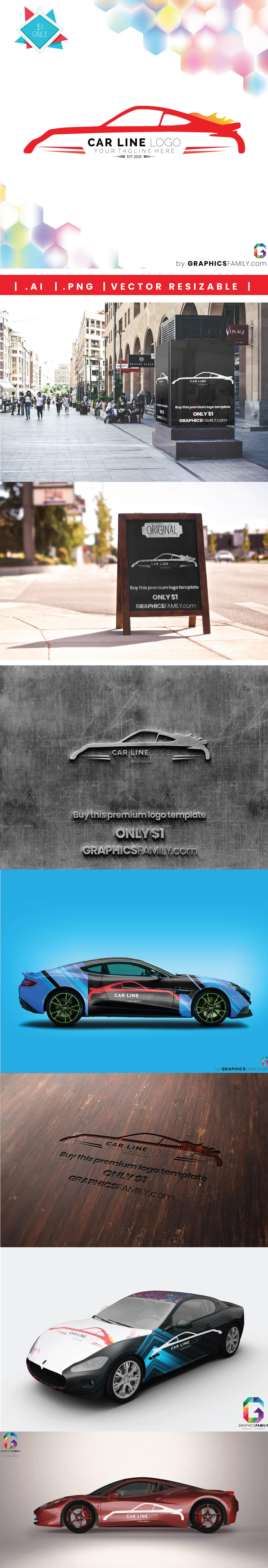 mockup-collection-car-line-logo