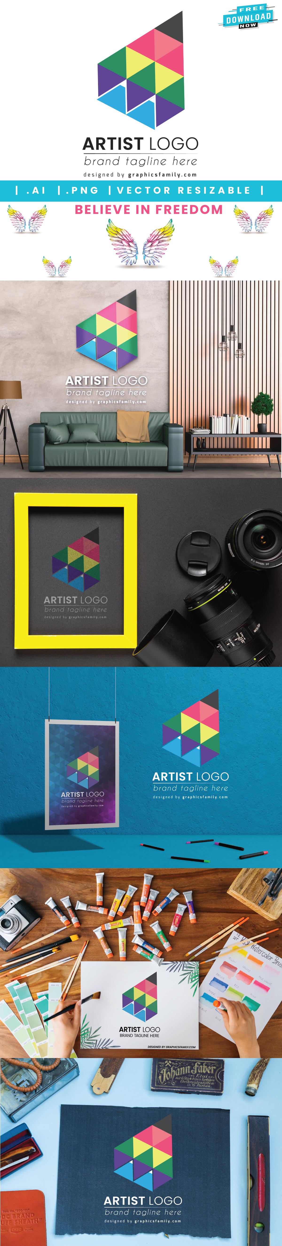 mockup-collection-creative-artist-logo-template