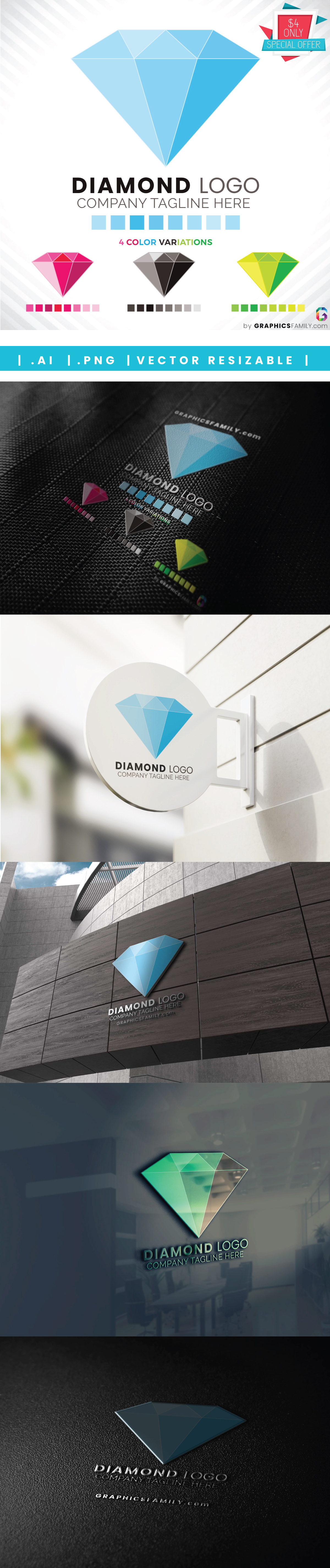 mockup-collection-diamond-logo-template