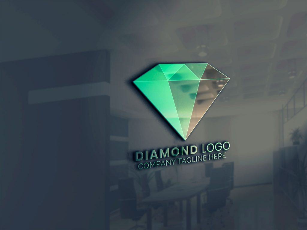 mockup-for-diamond-logo-template