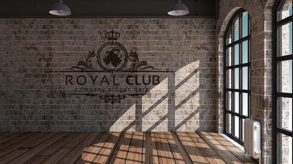mockup-royal-club-logo-design-interior-wall-room-decor