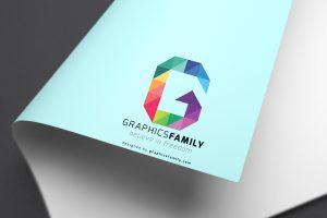 paper logo mockup letter G