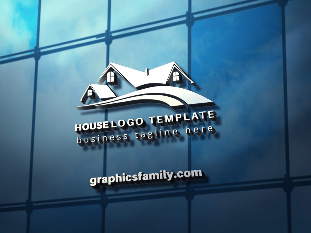 professional-house-logo-3D-glass-mockup