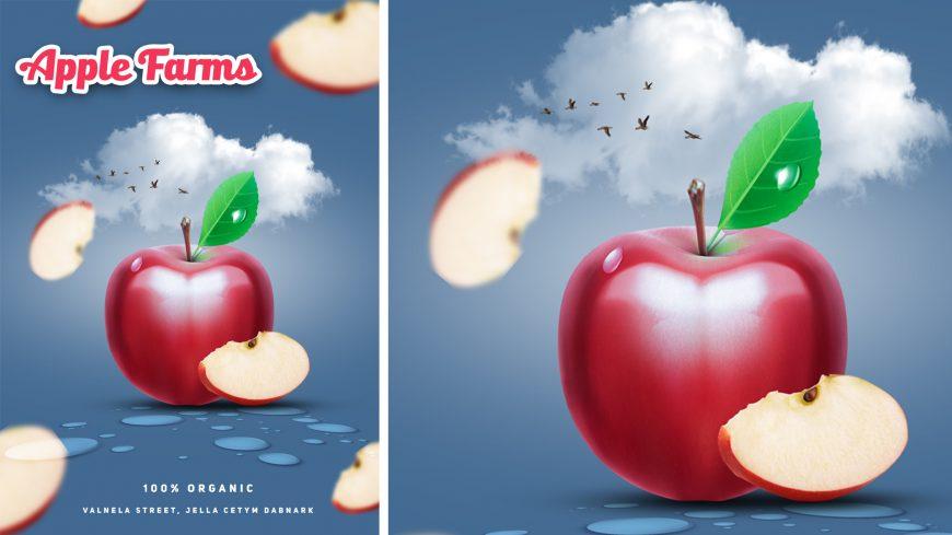 Apple Farm PSD Advertising Flyer Poster