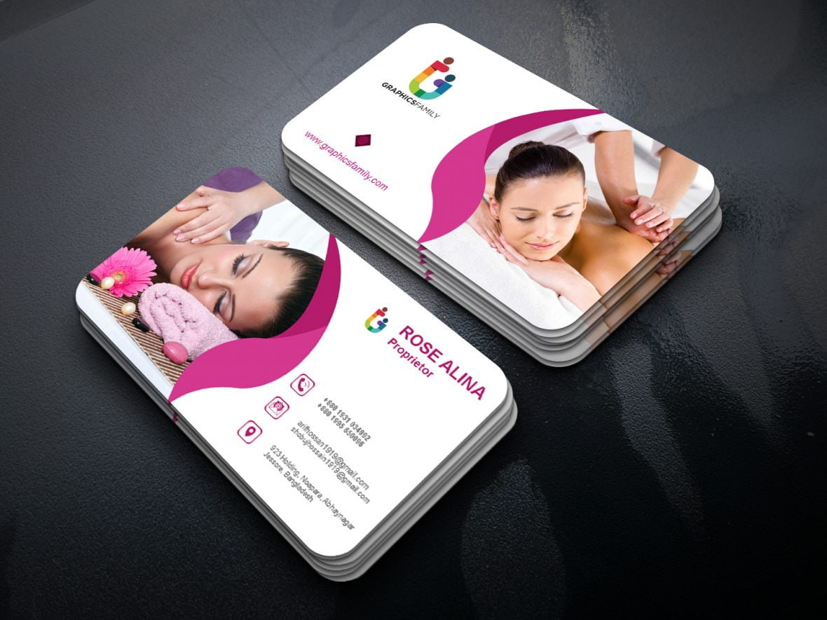 Beauty and Spa Business Card Design