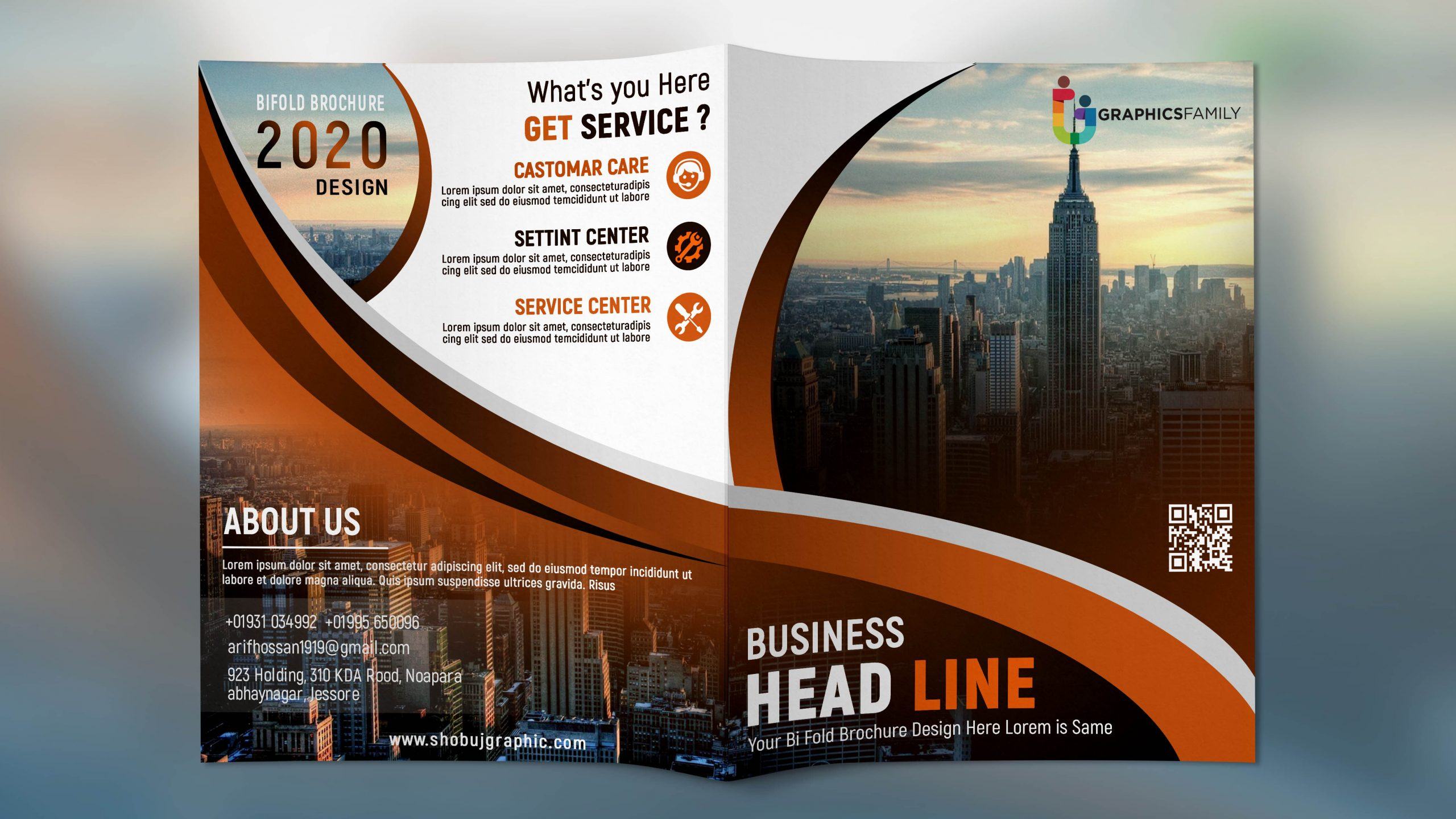 Creative BiFold PSD Brochure Template for all Kinds of Business