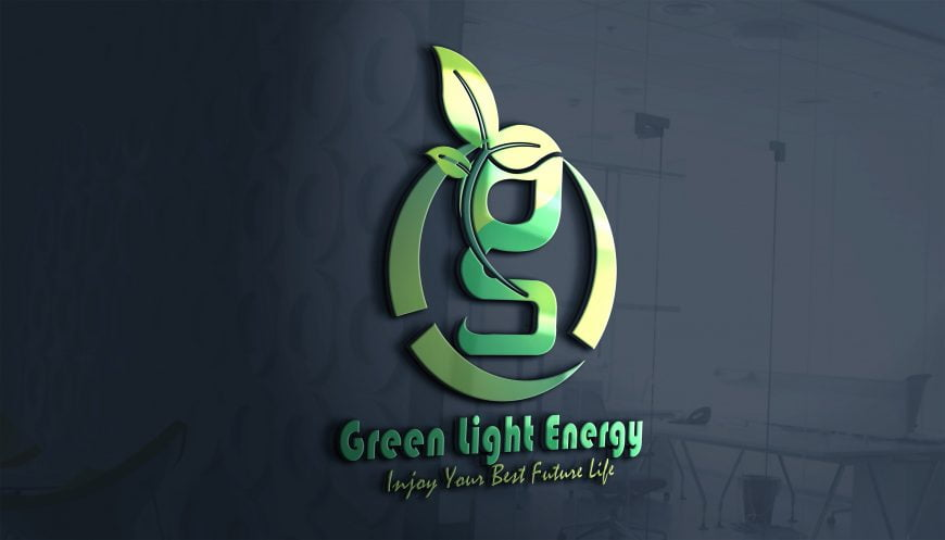 Eco Green Light Energy Logo Design Download