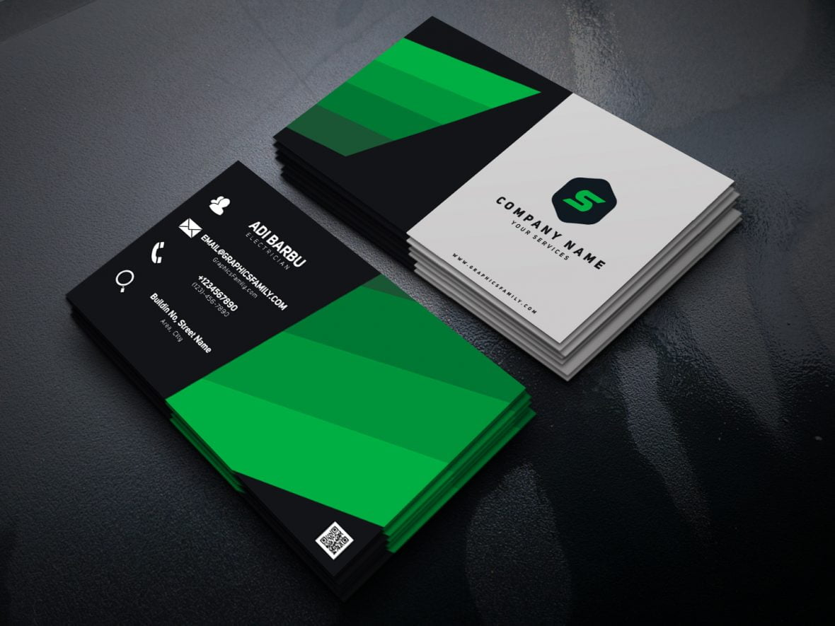 electrician psd business card template  graphicsfamily