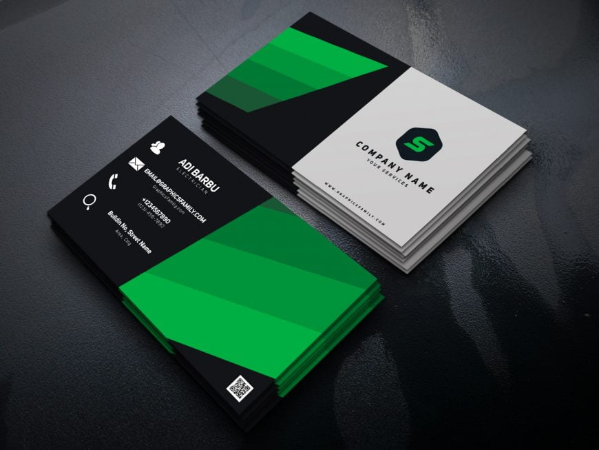 Electrician PSD Business Card Template