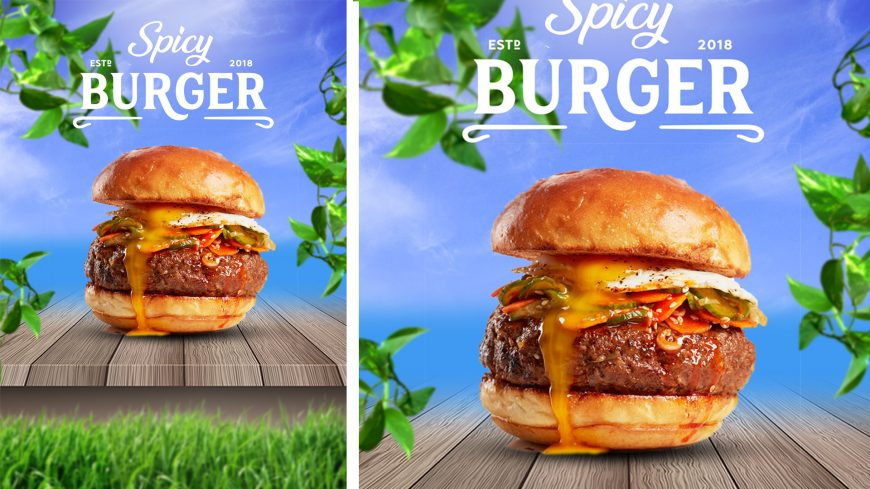 FREE Fast-Food Burger Advertising PSD Poster Design