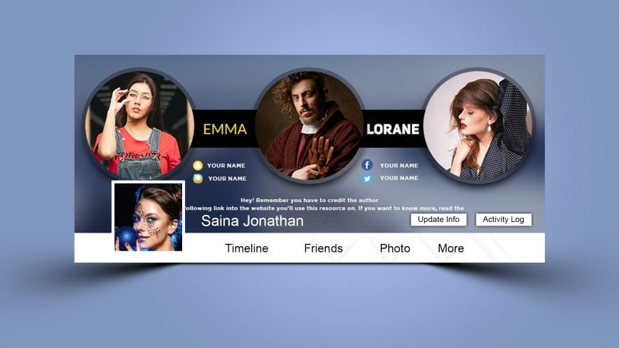 Fashionista Facebook Cover .PSD Template