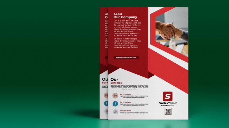 Free Corporate .PSD Flyer Design