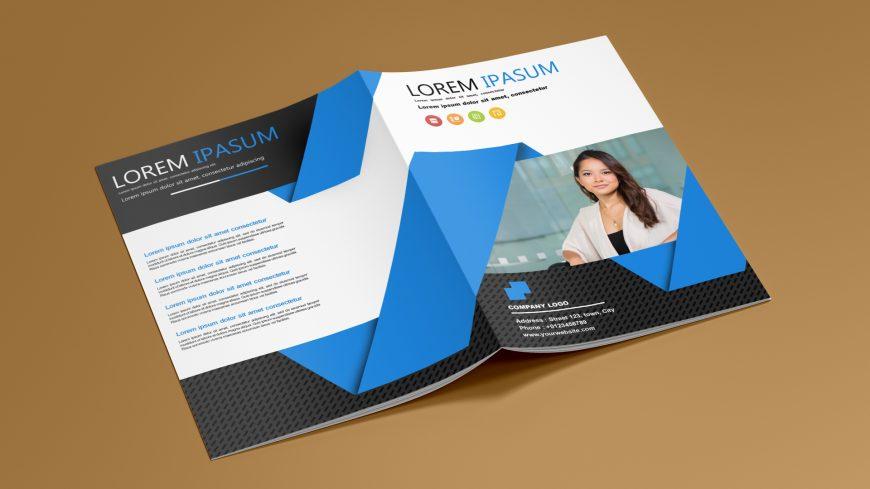 Free Corporate Bi Fold Brochure Template