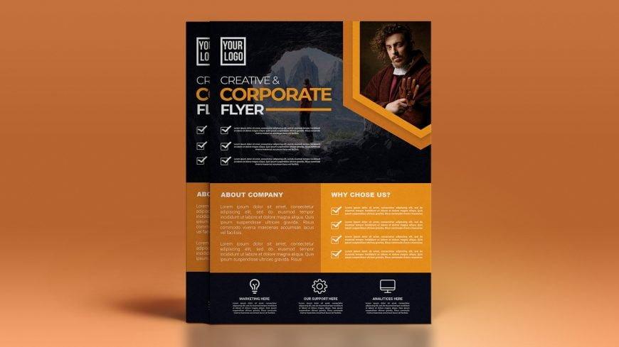 Free Creative Corporate .PSD Flyer Design