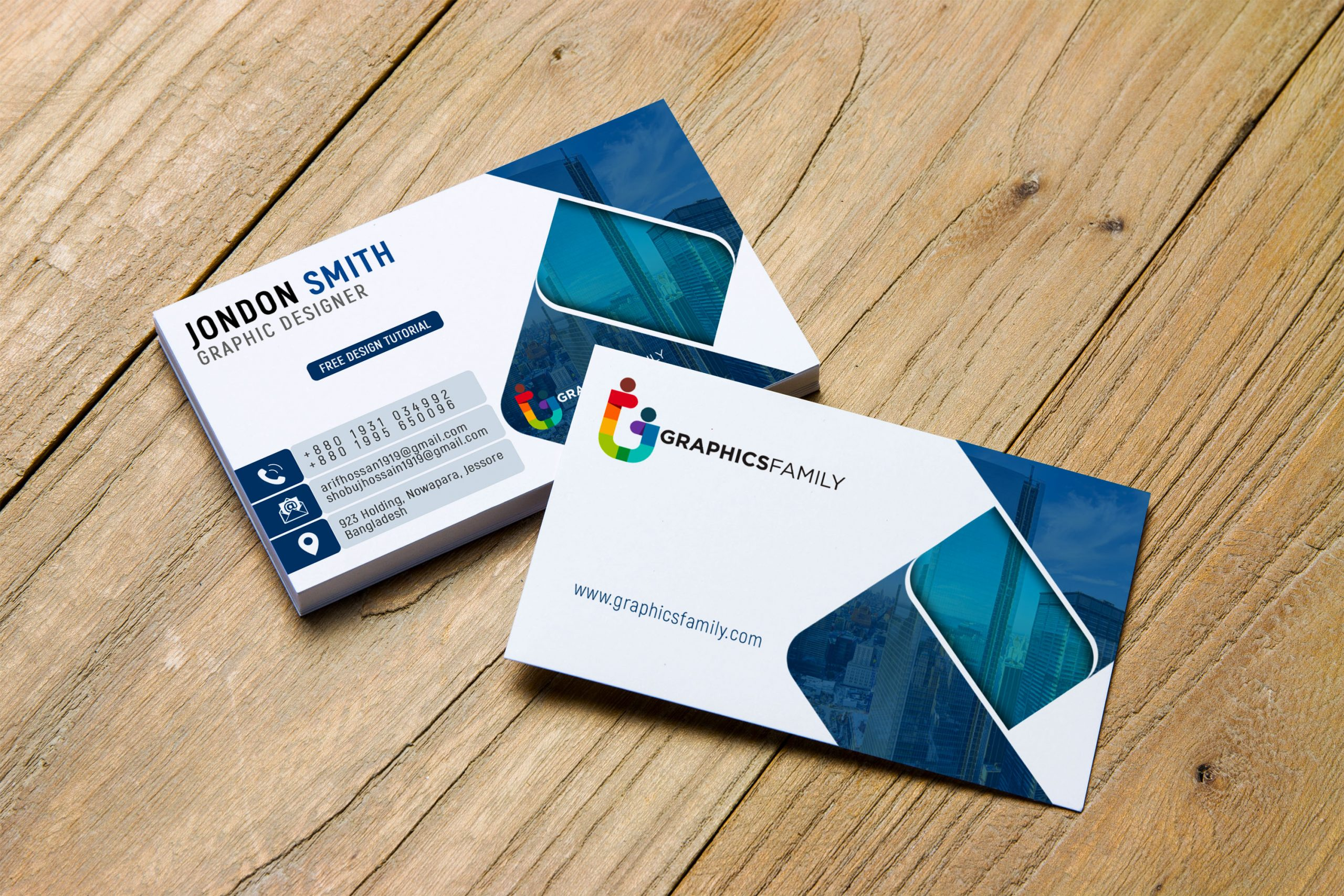 graphic artist professional business card design template