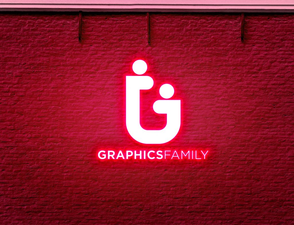 Free-Download-Wall-Neon-RED-Light-Logo-MockUp