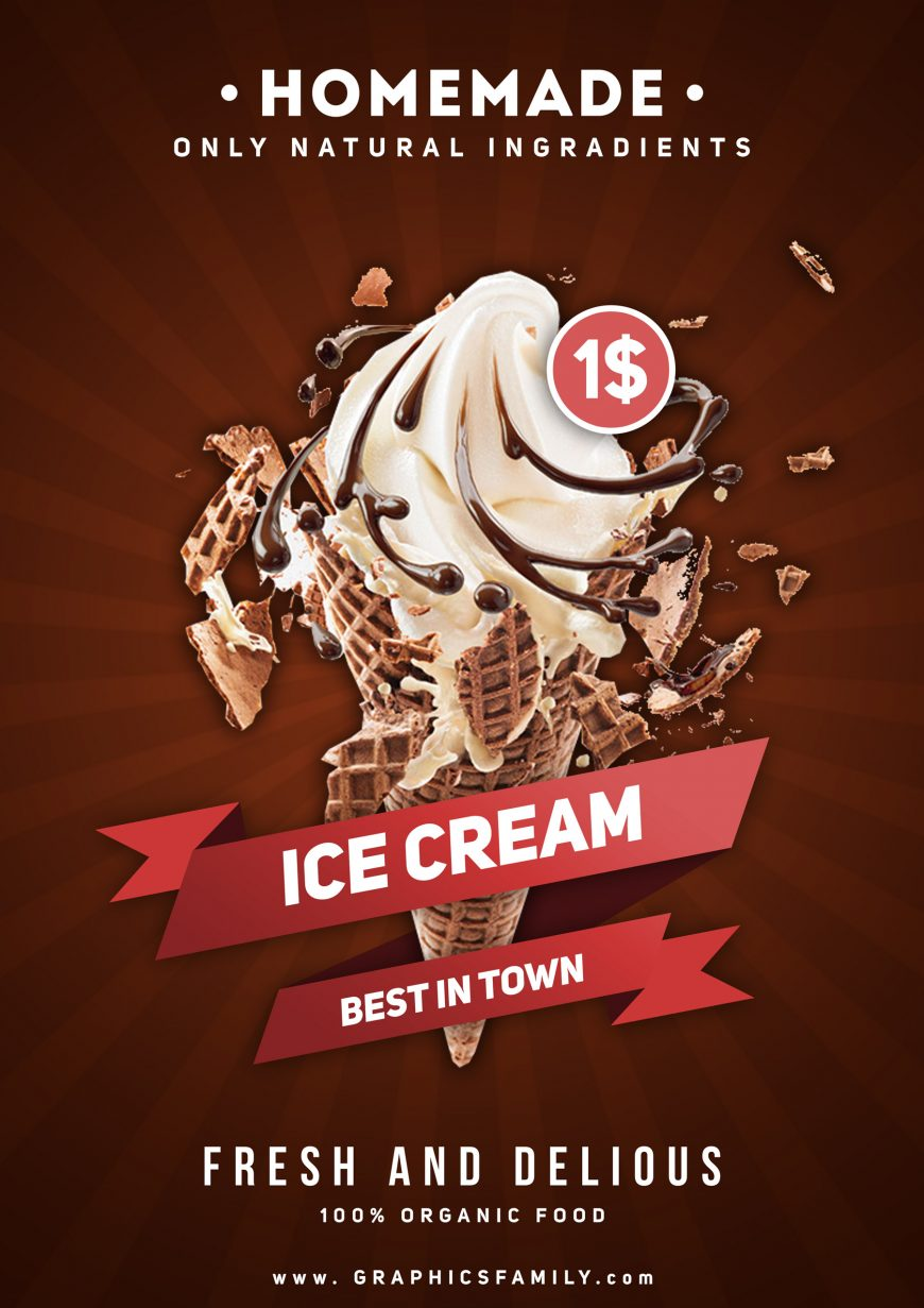 Free-PSD-Ice-Cream-Flyer-Design