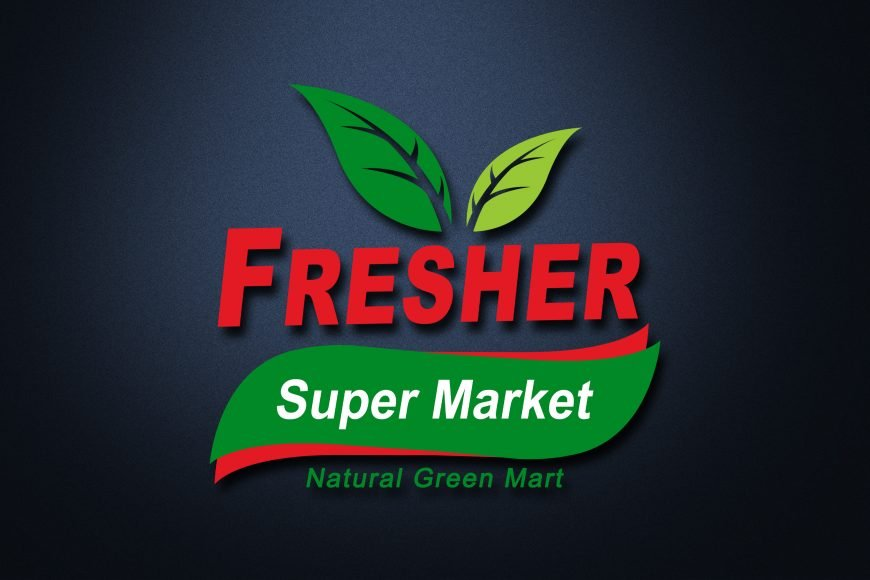 Free Super Market PSD Logo Template Download