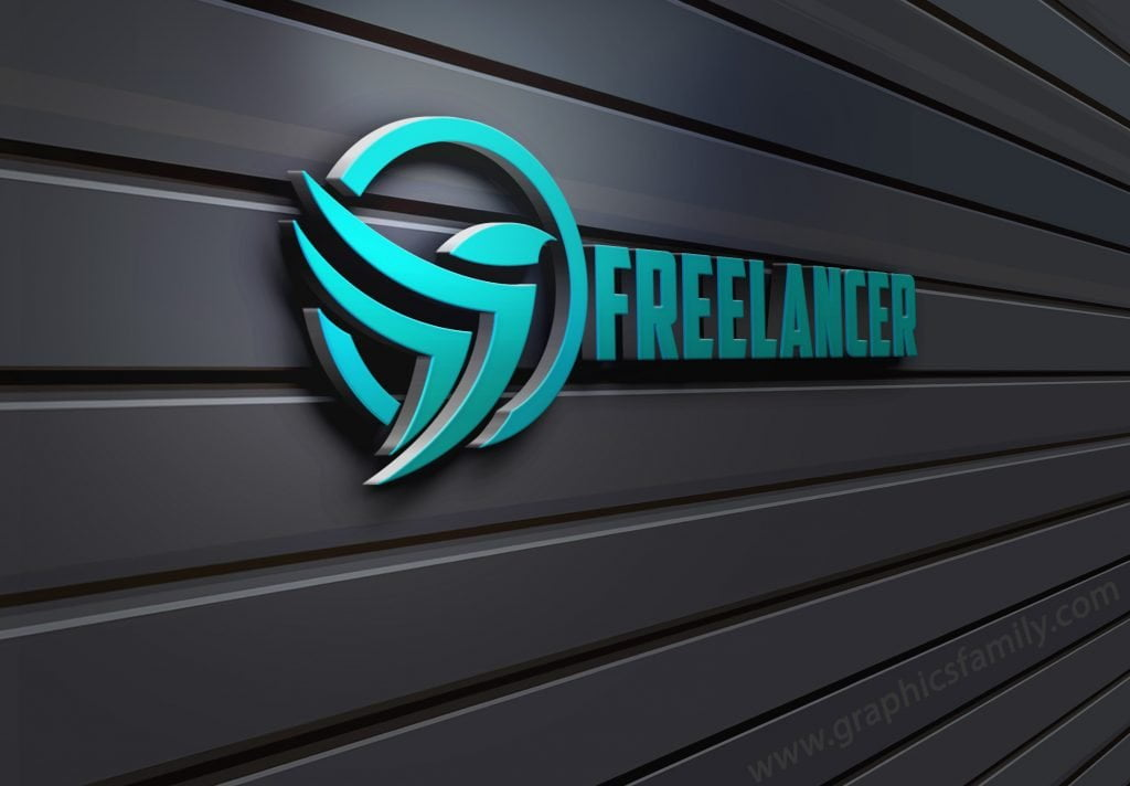Freelancer-3D-Wall-Logo-MockUp