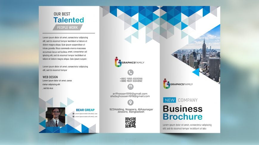 GraphicsFamily.com Corporate Business Brochure -Tri Fold Design
