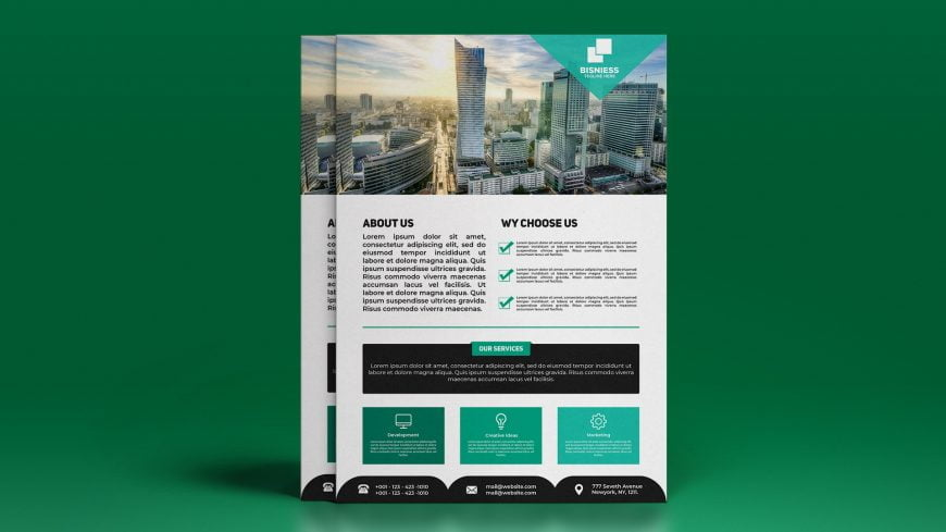 Modern Black&Green Flyer Design