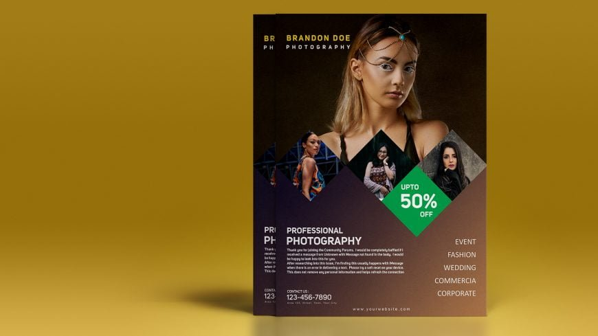 Must Have Photographer Flyer .PSD Template Design