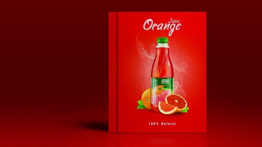 Orange Juice Advertising Poster Design