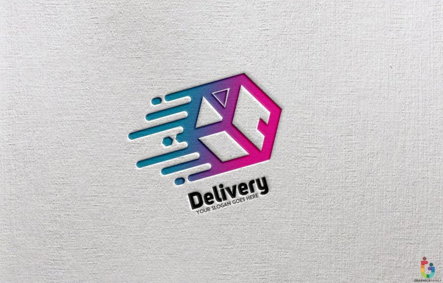 Paper-Effect-Delivery-Abstract-Logo-Template
