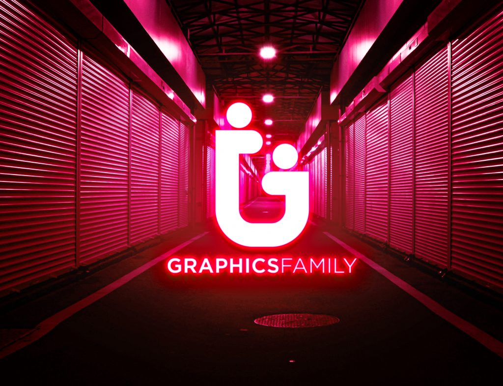 Red-Neon-Light-Logo-MockUp-Download