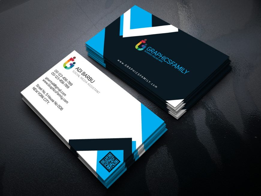 Social Media Assistant PSD Business Card Template