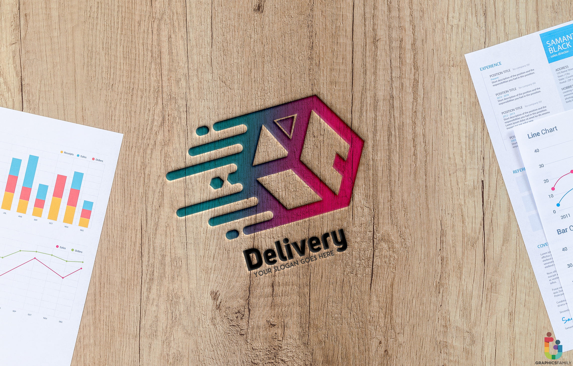 Wooden-Table-Engraved-Delivery-Abstract-Logo-Template