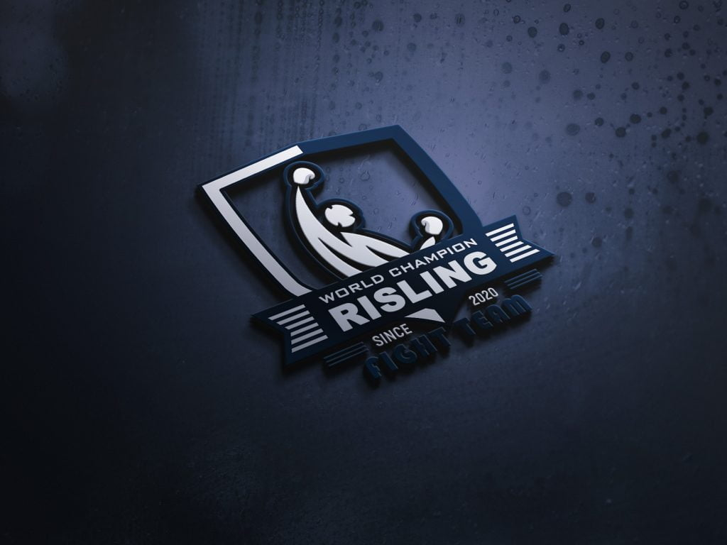 Wrestling-MODERN-3D-LOGO-MOCKUP