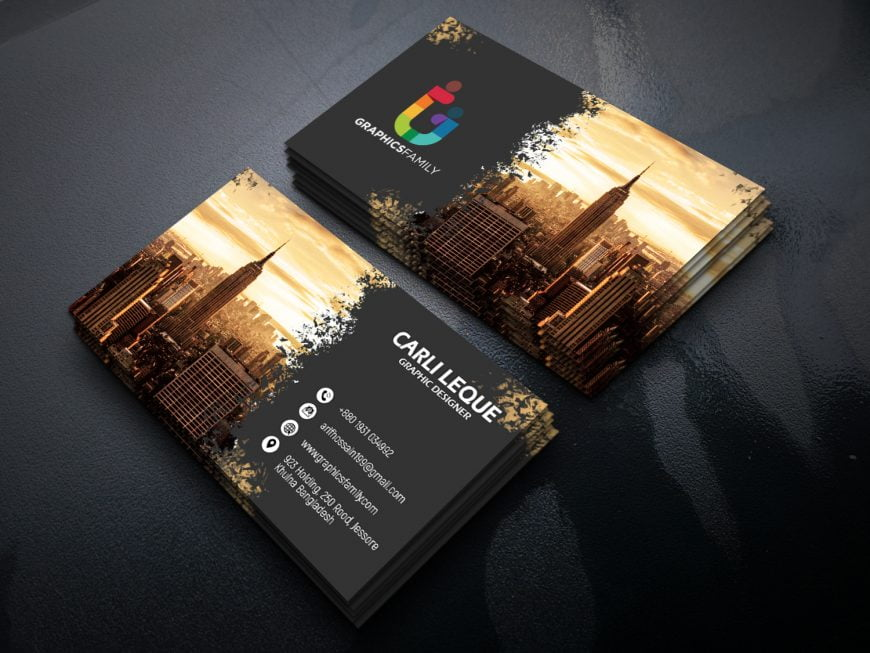 Advertising Operations Specialist Business Card Design