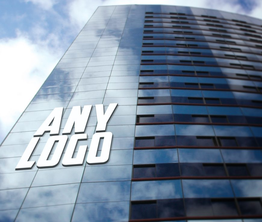 Any-Logo-Office Building Logo Mock-Up