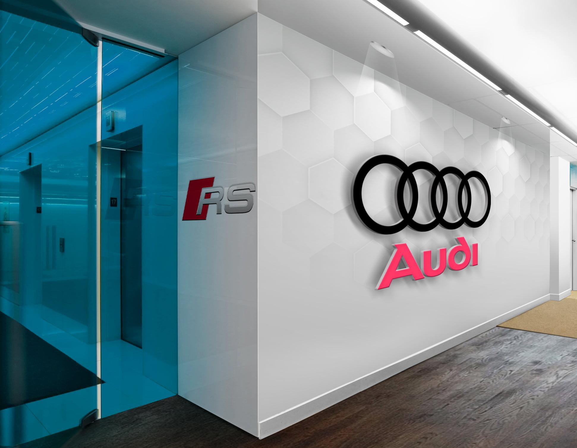 Audi-3D-Wall-Logo-&-Slogan-Mockup