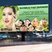 Beauty Parlour Billboard PSD Banner Template