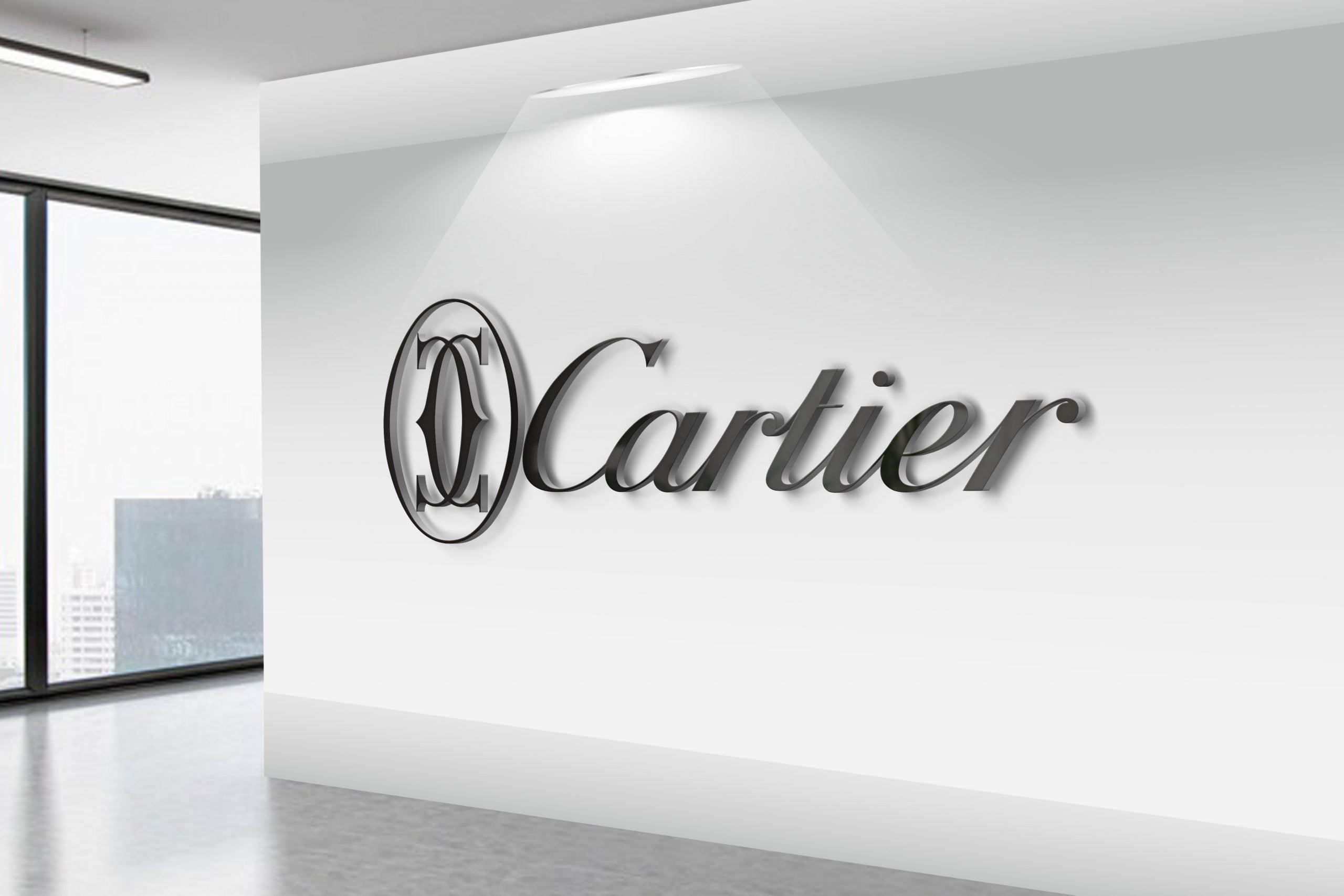 Cartier-3D-Wall-Logo-MockUp